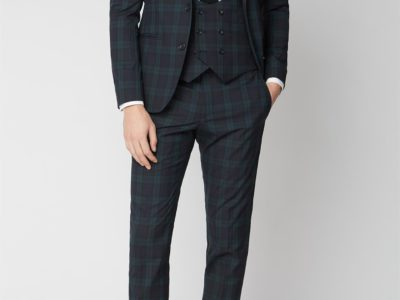 Black watch Mens tartan suit Jacket for sale.