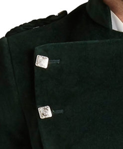 Green Montrose Velvet Jacket for Men available in low prices