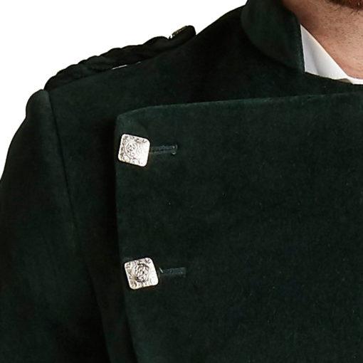 Green Montrose Velvet Jacket for Men available in low prices