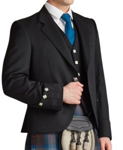 Prince Charlie Kilt Jacket for Men for sale.
