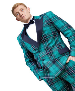 Men's Double-Breasted Tartan Dinner Jacket for sale
