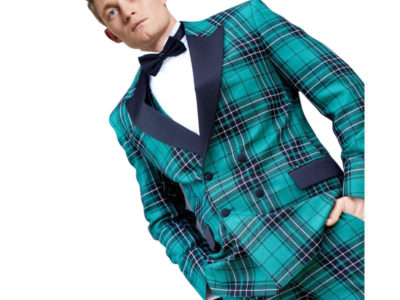 Men's Double-Breasted Tartan Dinner Jacket for sale