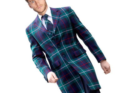 Men's long tartan jacket for men