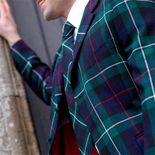 Men's long tartan jacket for men