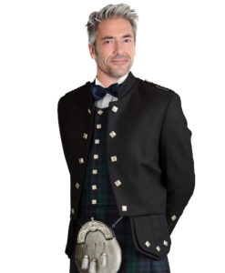 Black Sheriffmuir Highland Kilt Jacket for Men available in many colors
