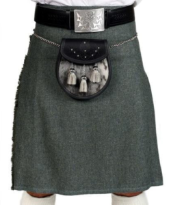 Plain Tweed Kilt for Sale for Men